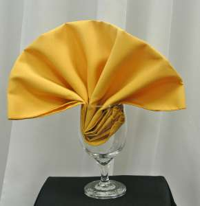 Gold Poly Napkin
