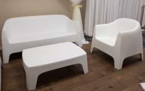 Lounge Furniture Set – White Plastic