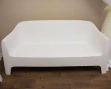 Lounge Sofa – White Plastic