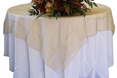 Antique Gold 72″ x 72″ Organza Overlay