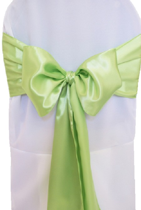 Apple Green Satin Chair Sash