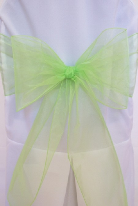 Apple Green Organza Chair Sash