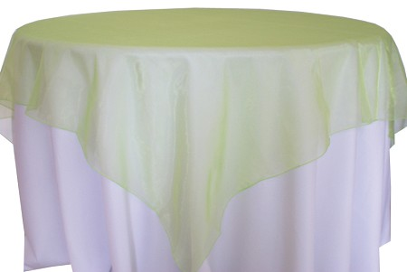 Apple Green 72″ x 72″ Organza Overlay