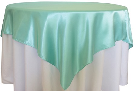 Aqua/Tiffany Blue 72″ x 72″ Satin Overlay