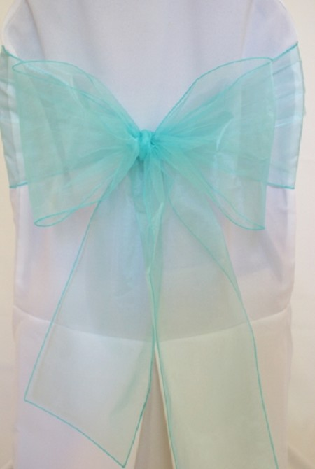 Aqua/Tiffany Blue Organza Chair Sash