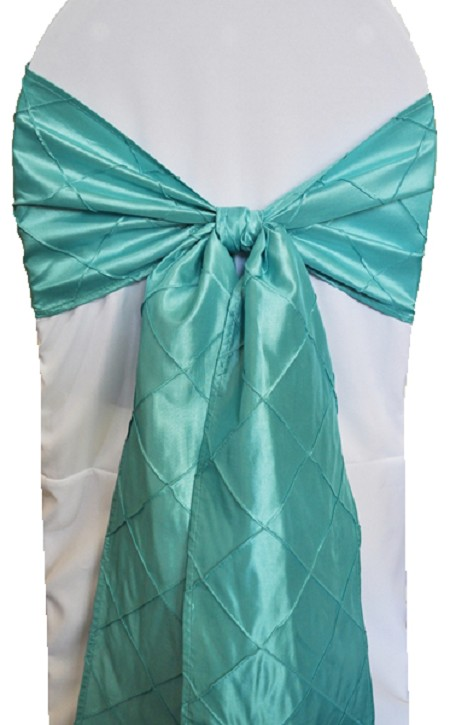 Aqua/Tiffany Blue Pintuck Chair Sash