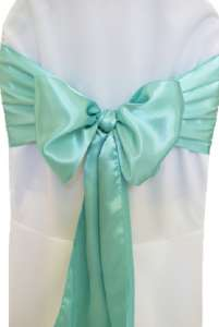 Aqua/Tiffany Blue Satin Chair Sash