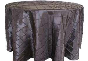 Black 90″ Round Pintuck