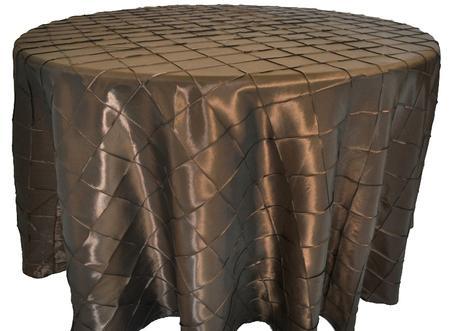 Chocolate 108″ Round Pintuck