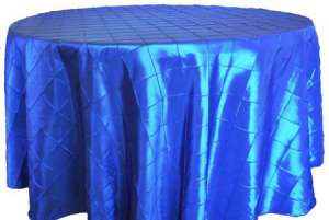 Royal Blue 90″ Round Pintuck