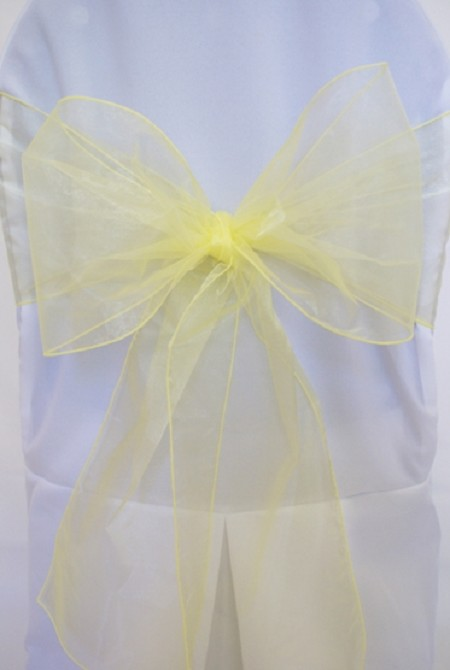 Baby Maize Organza Chair Sash