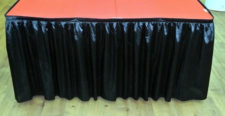 Black 14ft Polysateen Skirt