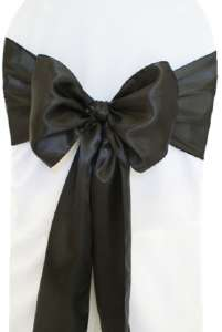 Black Satin Chair Sash
