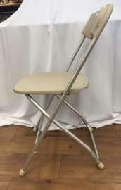 Indoor/Outdoor Aluminum Frame, Bone, Plastic Chair