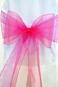 Bubblegum Organza Chair Sash