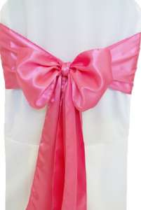 Bubblegum Satin Chair Sash