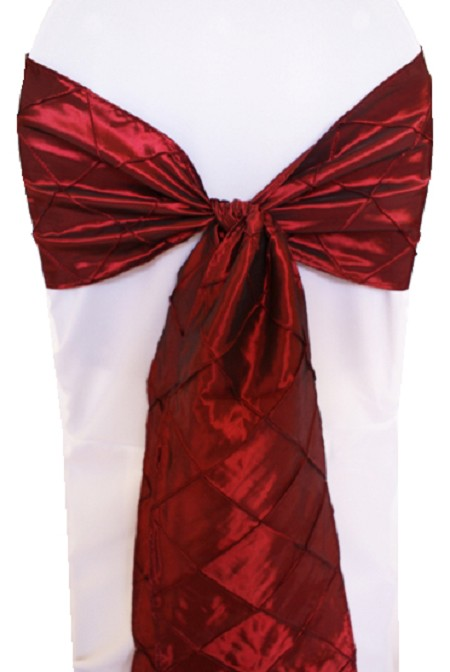 Burgundy Pintuck Chair Sash