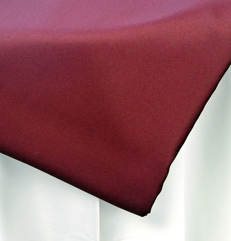 Burgundy 108″ Round Poly