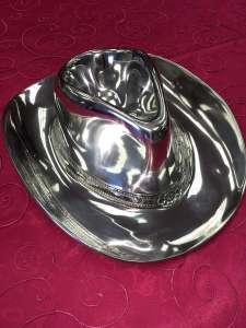 Aluminum Cowboy Hat, Chip & Dip Tray