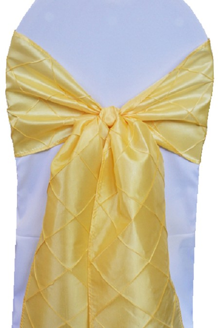 Canary Pintuck Chair Sash