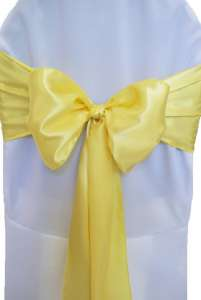 Canary Satin Chair Sash
