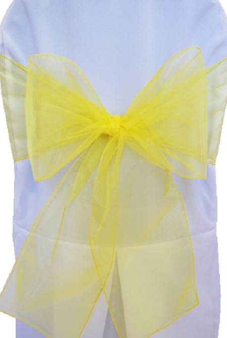 Canary Yellow Organza Chair Sash