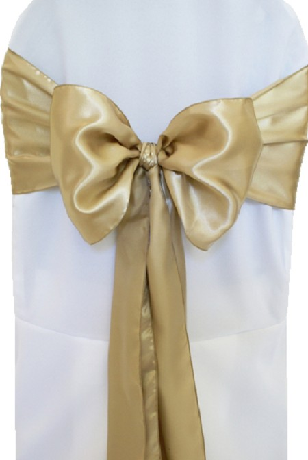 Cappuccino Satin Chair Sash