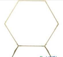 Archway, Hexagon, Gold 6′ x 6′