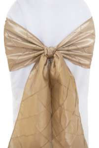 Champagne Pintuck Chair Sash