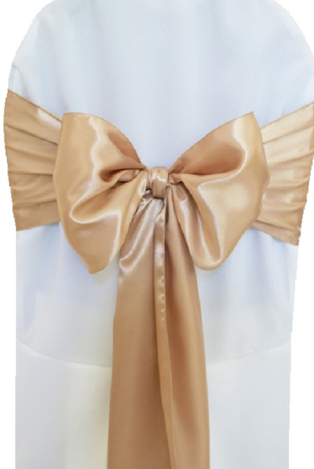 Champagne Satin Chair Sash