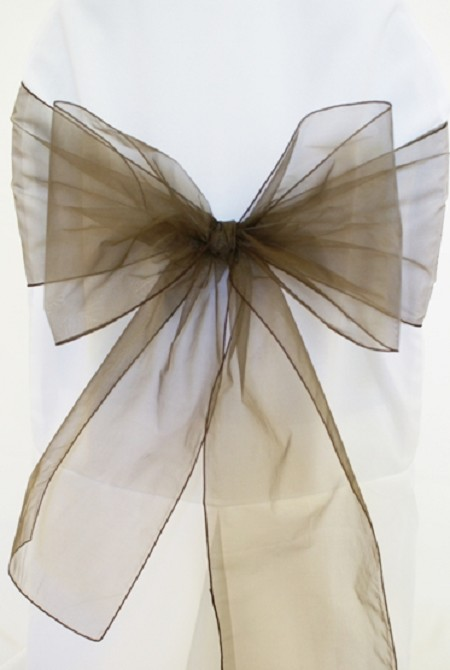Chocolate Organza Chair Sash