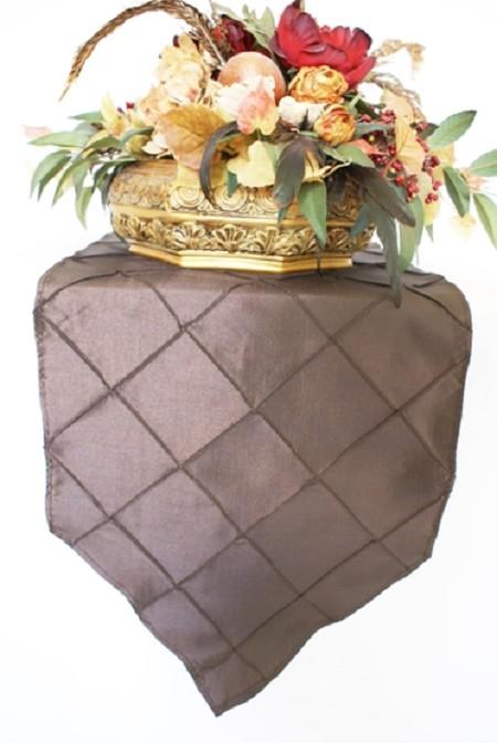 Chocolate Pintuck Runner 13″ x 108″