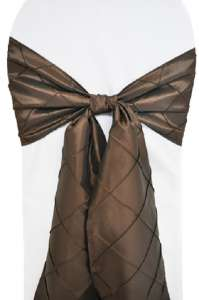 Chocolate Pintuck Chair Sash