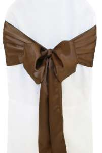 Chocolate Satin Chair Sash