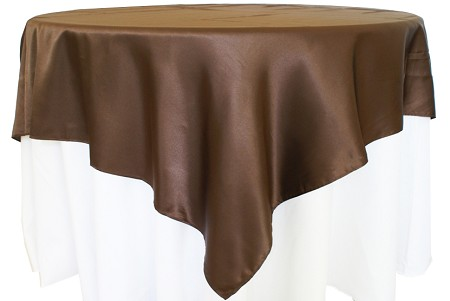 Chocolate 72″ x 72″ Satin Overlay