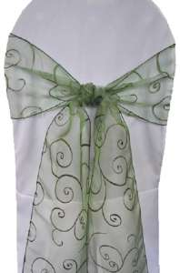 Clover Embroidered Organza Chair Sash