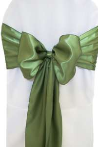 Clover Satin Chair Sash
