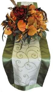 Clover Embroidered Organza Runner 12″ x 108″