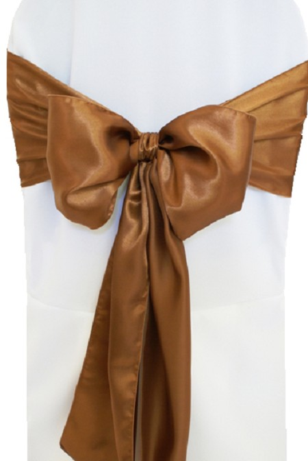 Copper Satin Chair Sash