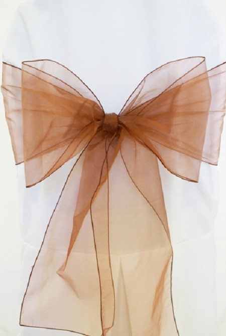 Copper Organza Chair Sash