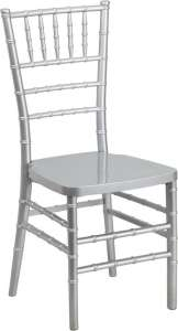 Chiavari, Silver, Resin Chair (Pad Separate)