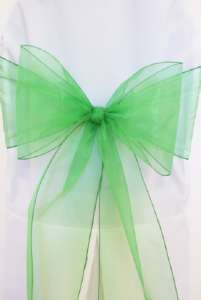 Emerald Organza Chair Sash