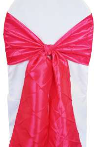 Fuchsia Pintuck Chair Sash