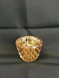 Votive Cup, Table, Gold Glitz