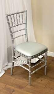 Chiavari, Silver, Resin Chair (Pad Included)