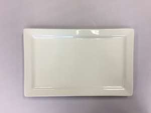 Tray, White Rectangle Platter, 18″ X 11″