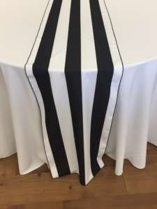 18″ x 120″ Black/White Stripe