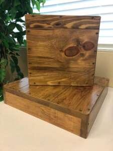 Riser, Wood~Square, 18″