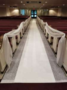 Carpet, White, 3′ X 50′