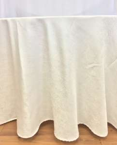 White 90″X156″ Paillette